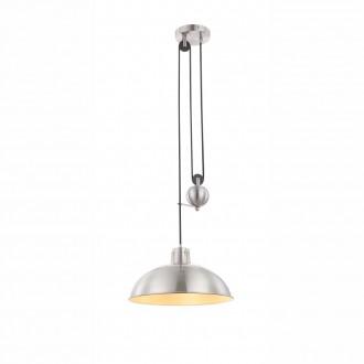 GLOBO 15073 | Sacramento Globo függeszték lámpa ellensúlyos, állítható magasság 1x E27 390lm 2700K matt nikkel