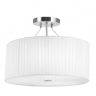 GLOBO 15105-3   LaNube_II Globo mennyezeti lámpa 3x E27 matt nikkel, fehér