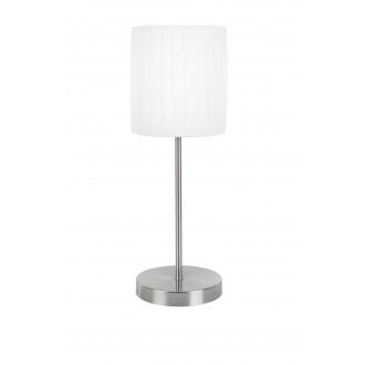 GLOBO 15105T   LaNube_II Globo asztali lámpa 45,5cm fényerőszabályzós érintőkapcsoló 1x E14 matt nikkel, fehér