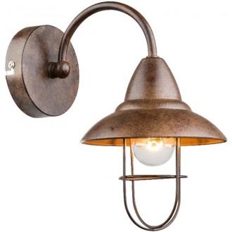 GLOBO 15126W | Kova Globo falikar lámpa 1x E14 rozsdabarna, metál barna