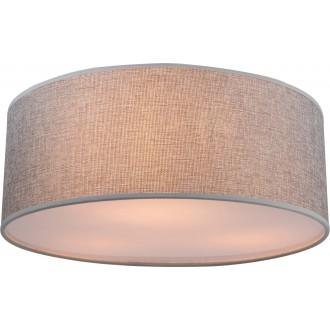 GLOBO 15185D | Paco Globo mennyezeti lámpa 3x E14 matt nikkel, szatén, szürke