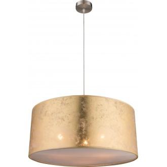GLOBO 15187H1 | Amy Globo függeszték lámpa 3x E27 matt nikkel, arany, szatén