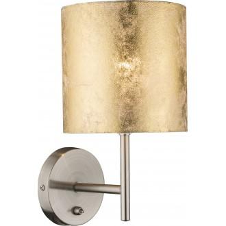 GLOBO 15187W | Amy Globo fali lámpa kapcsoló 1x E14 matt nikkel, arany
