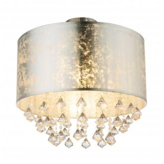 GLOBO 15188D3 | Amy-I Globo mennyezeti lámpa 1x E27 matt nikkel, ezüst, átlátszó