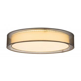 GLOBO 15190D4 | Theo Globo mennyezeti lámpa távirányító szabályozható fényerő, állítható színhőmérséklet 1x LED 5000lm 3000 - 4500 - 6000K fehér, szürke, fehér