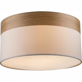 GLOBO 15221D | ChipsyG Globo mennyezeti lámpa 3x E27 matt nikkel, barna, bézs