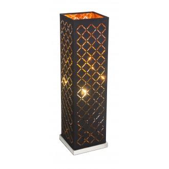 GLOBO 15229T2 | Kidal-Clarke Globo asztali lámpa 57cm vezeték kapcsoló 1x E27 matt nikkel, arany, fekete