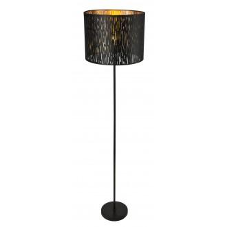 GLOBO 15264S | Tuxon-Tarok Globo álló lámpa 160cm kapcsoló 1x E27 metál fekete, arany