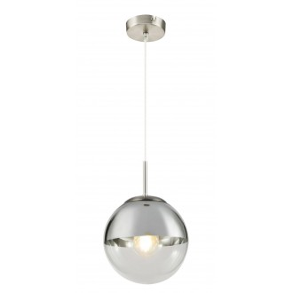 GLOBO 15851 | Varus Globo függeszték lámpa 1x E27 króm, matt nikkel, átlátszó