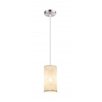 GLOBO 15917 | Cendres Globo függeszték lámpa 1x E27 matt nikkel, fehér