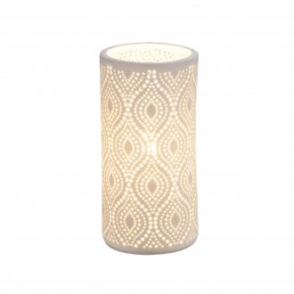 GLOBO 15917T | Cendres Globo asztali lámpa 20cm kapcsoló 1x E14 fehér