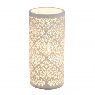 GLOBO 15918T | Cendres Globo asztali lámpa 24cm kapcsoló 1x E14 fehér
