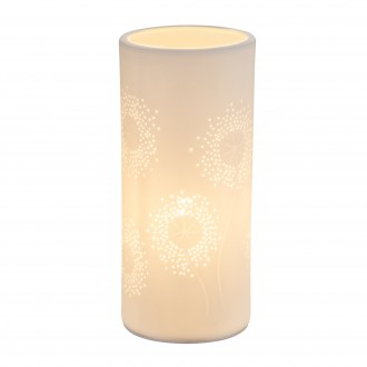 GLOBO 15919T | Cendres Globo asztali lámpa 24cm kapcsoló 1x E14 fehér