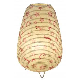 GLOBO 16922T | Licorne Globo asztali lámpa 34cm vezeték kapcsoló 1x E14 fehér, minta