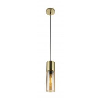 GLOBO 21000HM | Annikag Globo függeszték lámpa 1x E27 súrolt arany, borostyán, barna