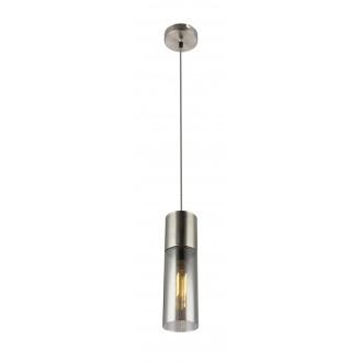 GLOBO 21000HN | Annikag Globo függeszték lámpa 1x E27 matt nikkel, füst