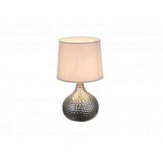 GLOBO 21655 | Soputan Globo asztali lámpa 37cm vezeték kapcsoló 1x E14 króm, szürke