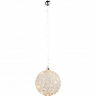GLOBO 23232 | Kreta Globo dekor lámpa kapcsoló 10x LED matt nikkel, fehér