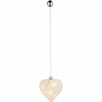 GLOBO 23233 | Kreta Globo dekor lámpa kapcsoló 6x LED matt nikkel, fehér
