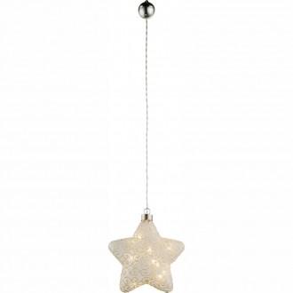 GLOBO 23234 | Kreta Globo dekor lámpa kapcsoló 10x LED matt nikkel, fehér