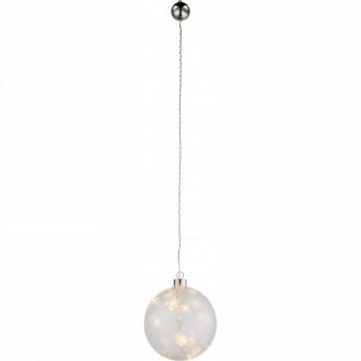 GLOBO 23235 | Kreta-I Globo dekor lámpa kapcsoló 6x LED átlátszó
