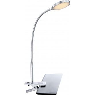 GLOBO 24103K | Pegasi Globo csiptetős lámpa kapcsoló flexibilis 1x LED 550lm 3000K króm, alumínium