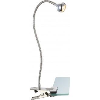 GLOBO 24109K | Serpent Globo csiptetős lámpa kapcsoló flexibilis 1x LED 150lm 3000K matt nikkel, króm