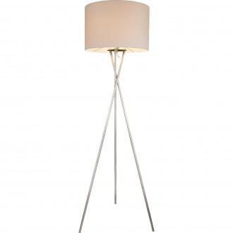 GLOBO 24685N   Gustav Globo álló lámpa 160cm kapcsoló 1x E27 matt nikkel, fehér