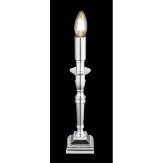 GLOBO 24704C   Carice Globo asztali lámpa 33cm 1x E14 króm, fekete