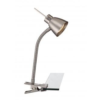 GLOBO 2476L | Nuova Globo csiptetős lámpa kapcsoló flexibilis 1x GU10 165lm 3000K matt nikkel