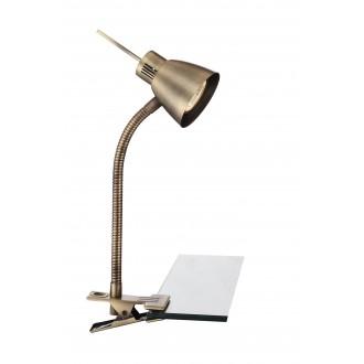 GLOBO 2477L | Nuova Globo csiptetős lámpa kapcsoló flexibilis 1x GU10 165lm 3000K antikolt réz