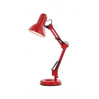 GLOBO 24882 | Famous Globo asztali lámpa kapcsoló elforgatható alkatrészek 1x E27 piros, fekete
