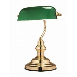 GLOBO 2491 | Antique Globo asztali lámpa 36cm kapcsoló 1x E27 arany, zöld