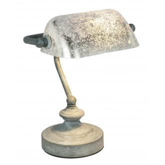 GLOBO 24917G | Antique Globo asztali lámpa 24cm vezeték kapcsoló 1x E14 beton, ezüst