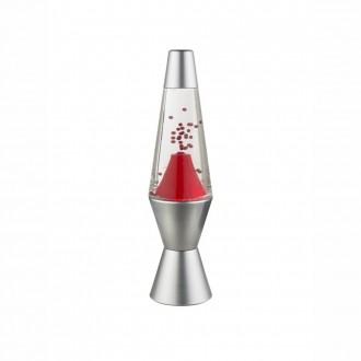 GLOBO 28027 | Magma Globo asztali lámpa 29,2cm kapcsoló 6x LED ezüst, piros, átlátszó