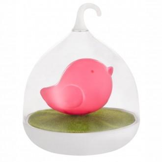 GLOBO 28038P | Ampato Globo asztali lámpa 17cm fényerőszabályzós érintőkapcsoló szabályozható fényerő, USB csatlakozó 4x LED pink, fehér, zöld