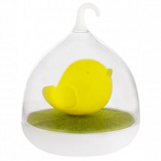 GLOBO 28038Y | Ampato Globo asztali lámpa 17cm fényerőszabályzós érintőkapcsoló szabályozható fényerő, USB csatlakozó 4x LED sárga, fehér, zöld