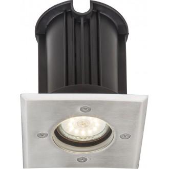 GLOBO 31101 | Style-II Globo beépíthető lámpa 110x110mm 1x GU10 IP67 acél
