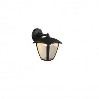 GLOBO 31826 | Delio Globo falikar lámpa 1x LED 360lm 3000K IP54 antracit, átlátszó, opál