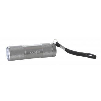 GLOBO 31903 | Flashlight Globo hordozható lámpa kapcsoló elemes/akkus 9x LED 43lm alumínium, fekete