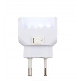 GLOBO 31908 | Chaser Globo éjjelifény lámpa kapcsoló konnektorlámpa 4x LED 25lm 6400K fehér