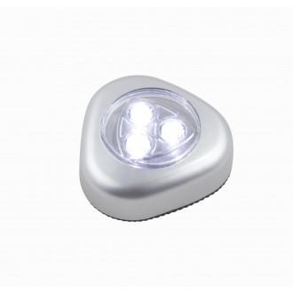 GLOBO 31909 | Flashlight Globo éjjelifény lámpa kapcsoló elemes/akkus 3x LED 20lm ezüst
