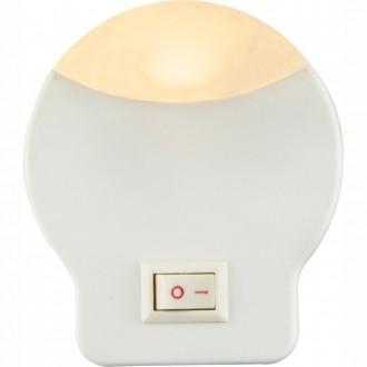 GLOBO 31932 | Enio_I Globo éjjelifény lámpa kapcsoló konnektorlámpa 1x LED 3lm 3000K fehér