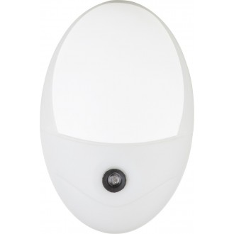 GLOBO 31934W | Enio Globo éjjelifény lámpa fényérzékelő szenzor - alkonykapcsoló konnektorlámpa 4x LED 18lm 6500K fehér