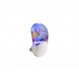 GLOBO 31937 | Enio Globo éjjelifény lámpa mozgásérzékelő, fényérzékelő szenzor - alkonykapcsoló konnektorlámpa 3x LED RGBK fehér, többszínű