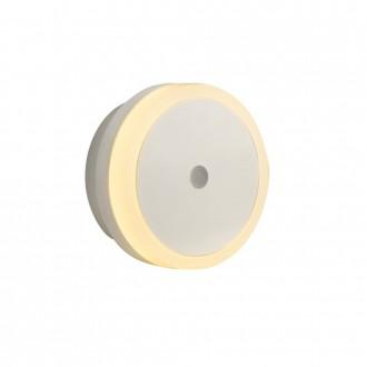GLOBO 31938 | Enio_II Globo éjjelifény lámpa fényérzékelő szenzor - alkonykapcsoló konnektorlámpa 4x LED szürke, fehér