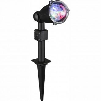 GLOBO 32000 | Meriton Globo leszúrható lámpa 3x LED IP44 fekete