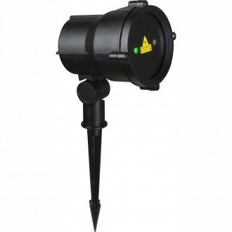 GLOBO 32002 | Tammes-Laser Globo leszúrható lámpa távirányító 1x Laser IP65 fekete