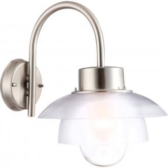 GLOBO 32074 | Mixed Globo fali lámpa 1x E27 IP44 nemesacél, rozsdamentes acél, opál