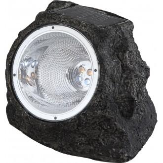 GLOBO 3302 | Soglo15 Globo kő formájú lámpa napelemes/szolár 4x LED IP44 szürke